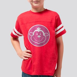 Monkey Face, Pink Youth Football Shirt