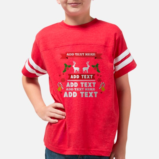 personalized add Text Christm Youth Football Shirt