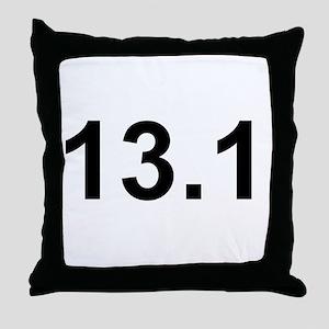 Half Marathon 13.1 Throw Pillow