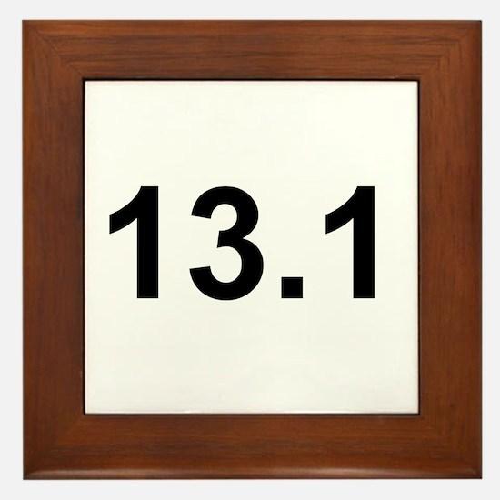 Half Marathon 13.1 Framed Tile