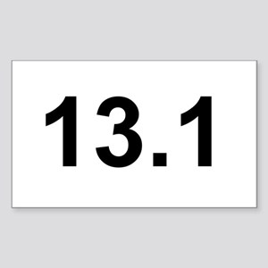 Half Marathon 13.1 Rectangle Sticker