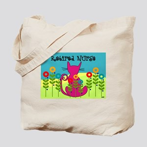 Whimsical Cat Art Tote Bag