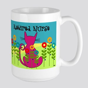 Whimsical Cat Art Large Mug