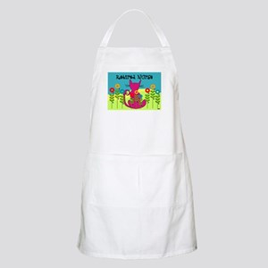 Whimsical Cat Art Apron
