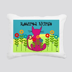 Whimsical Cat Art Rectangular Canvas Pillow