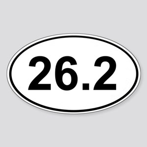 Marathon 26.2 White Oval Sticker