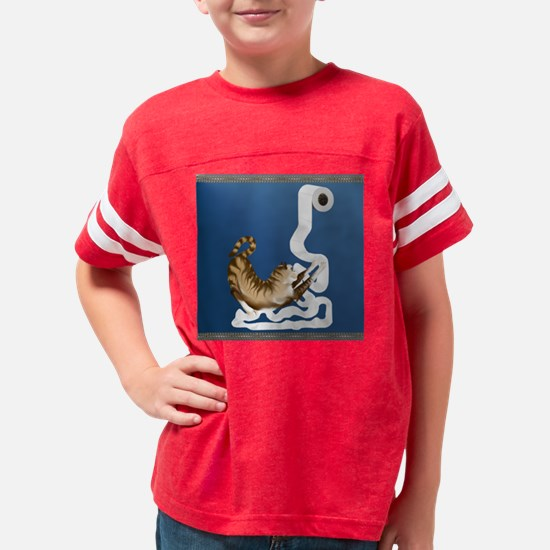 Toilet Paper Fetish Kitty_pil Youth Football Shirt