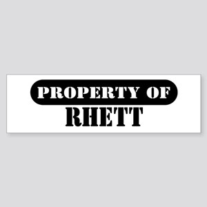 Property of Rhett Bumper Sticker