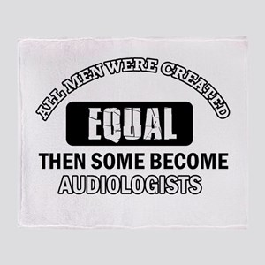 Cool Audiologists designs Throw Blanket