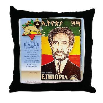 Haile Selassie I Throw Pillow