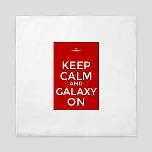 Keep Calm and Galaxy On Queen Duvet