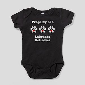 Property Of A Labrador Retriever Baby Bodysuit