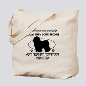 old english sheepdog mommy designs Tote Bag