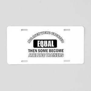 Cool Athletic Trainers designs Aluminum License Pl