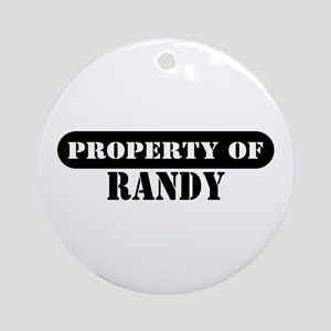 Property of Randy Ornament (Round)