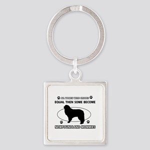 newfoundland mommy designs Square Keychain