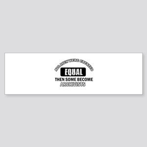 Cool Archivists designs Sticker (Bumper)