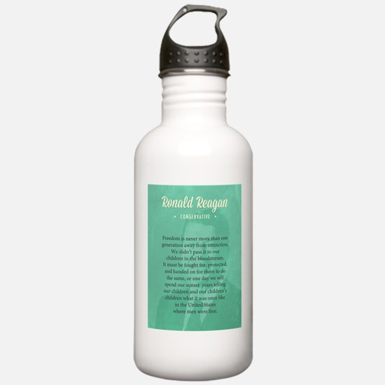 President Ronald Reagan Quote Water Bottle