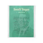 President Ronald Reagan Quote Throw Blanket