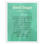 President Ronald Reagan Quote Posters