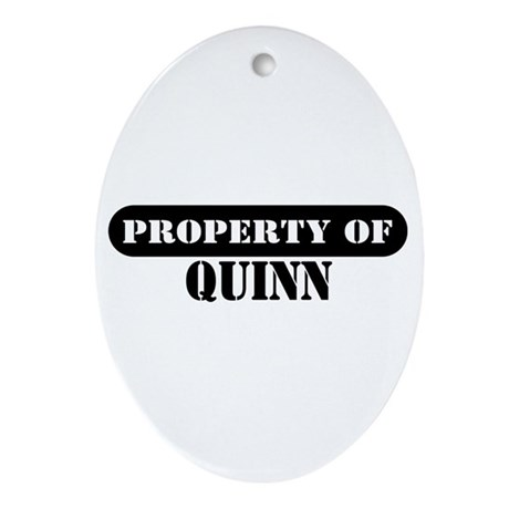 Property of Quinn Oval Ornament