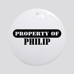 Property of Philip Ornament (Round)