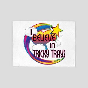 I Believe In Tricky Trays Cute Believer Design 5'x