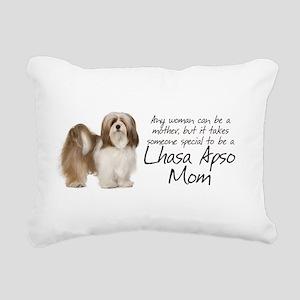Lhasa Apso Mom Rectangular Canvas Pillow