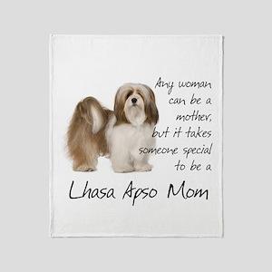 Lhasa Apso Mom Throw Blanket