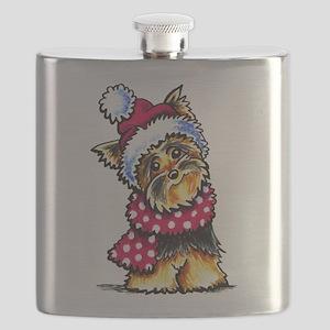 Yorkie Scarf Flask
