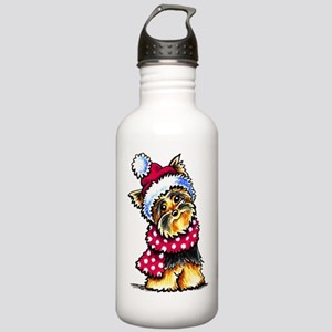 Yorkie Scarf Water Bottle