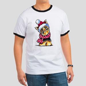 Yorkie Scarf T-Shirt