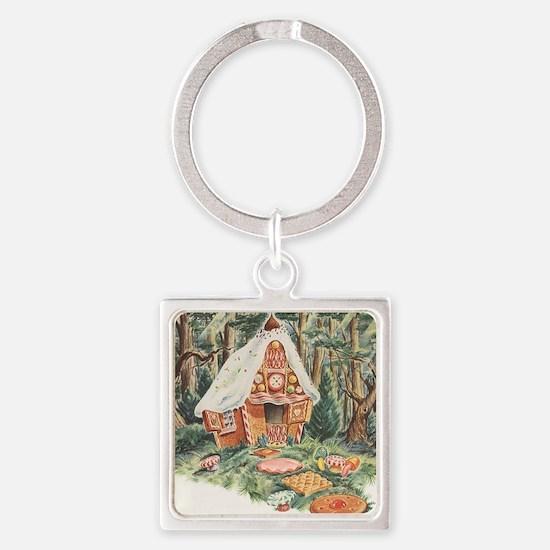 Vintage Hansel and Gretel Square Keychain