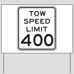 Town Speed Limit 40 alt2 Yard Sign