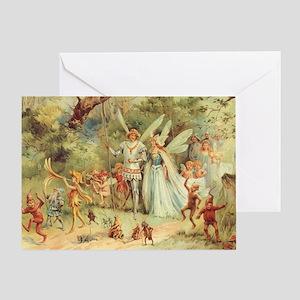Vintage Thumbelina Wedding Greeting Card
