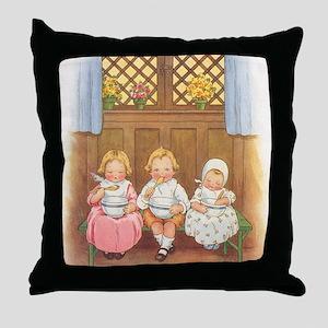 Vintage Nursery Rhyme Throw Pillow