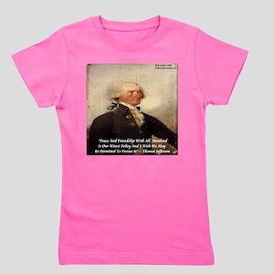 Thomas Jefferson Peace Quote Girl's Tee