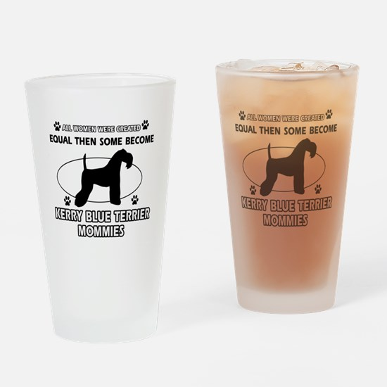 KERRY BLUE TERRIER mommy designs Drinking Glass