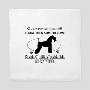 KERRY BLUE TERRIER mommy designs Queen Duvet