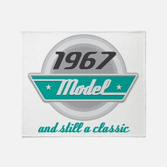 1967 Birthday Vintage Chrome Throw Blanket