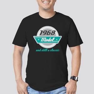 1968 Birthday Vintage Chrome Men's Fitted T-Shirt