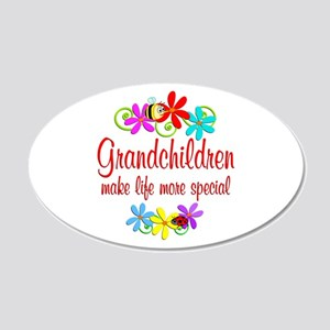 Special Grandchildren 20x12 Oval Wall Decal