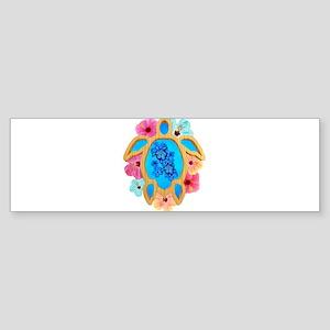 Hawaiian Blue Honu Bumper Sticker