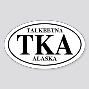 Talkeetna Oval Sticker