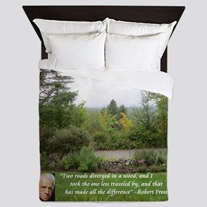 Robert Frost And Quote Queen Duvet