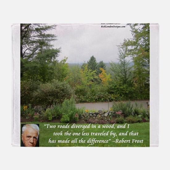 Robert Frost And Quote Throw Blanket