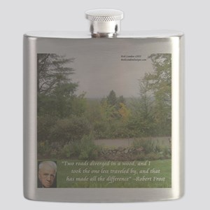 Robert Frost And Quote Flask