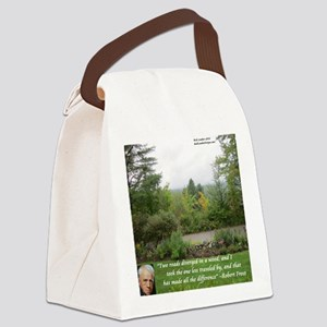 Robert Frost And Quote Canvas Lunch Bag