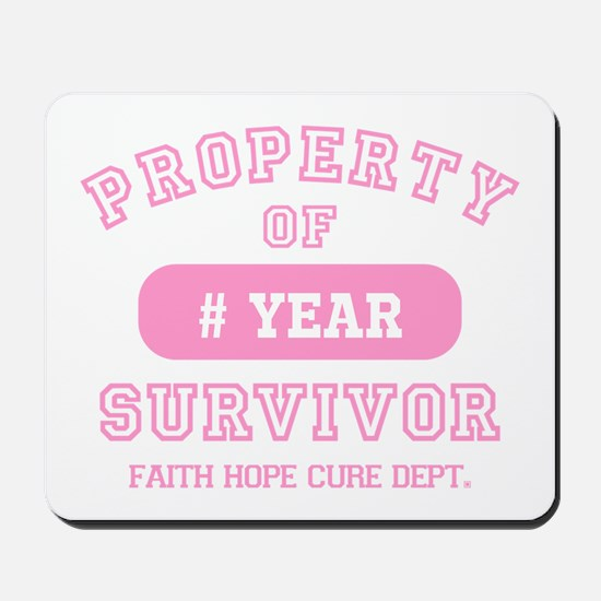 Property Of Survivor Personalized Mousepad