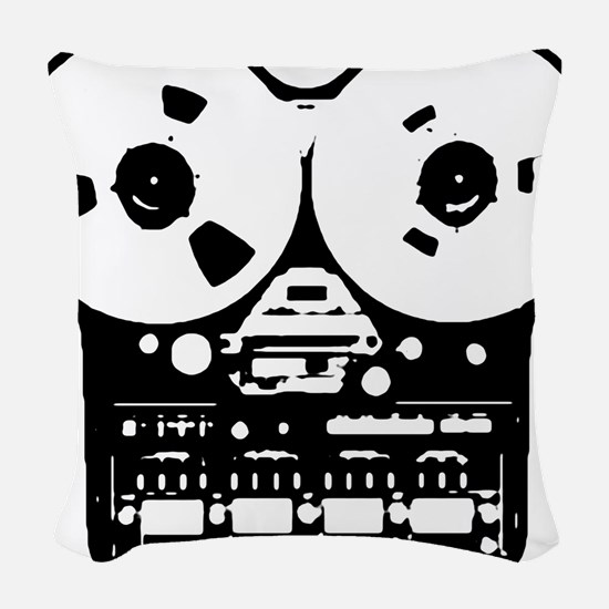 Reel To Reel Woven Throw Pillow